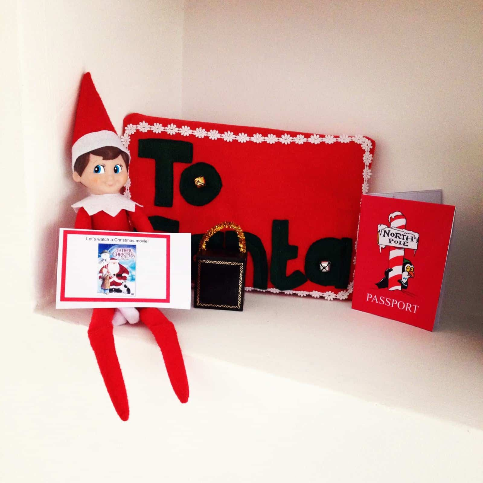 Elf on the Shelf leaving notes to watch a Christmas movie