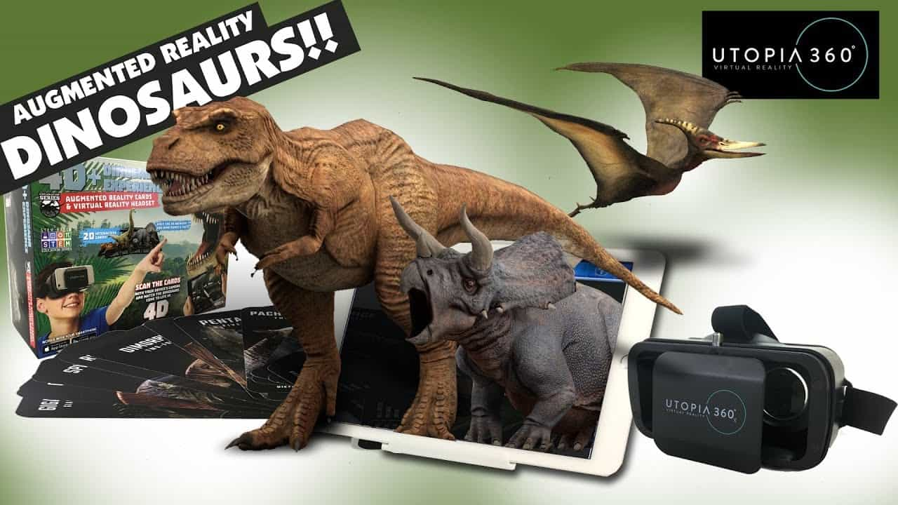 maxresdefault-min4D+ Utopia 360° Dinosaur Experience Augmented Reality Cards & VR Headset