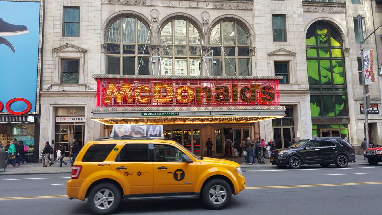McDonalds and New York Yellow Taxi