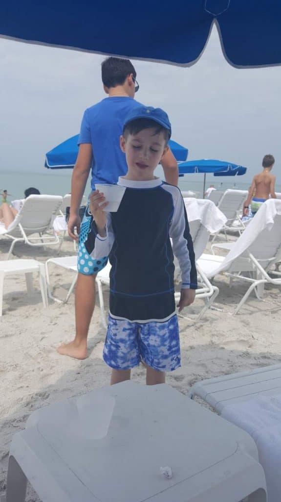 Beach at Ritz Carlton Hotel, Naples Florida