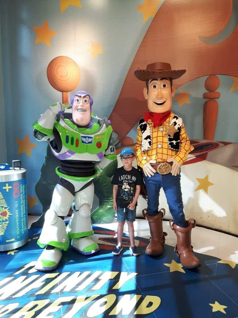 Meeting Woody and Buzz at Disney