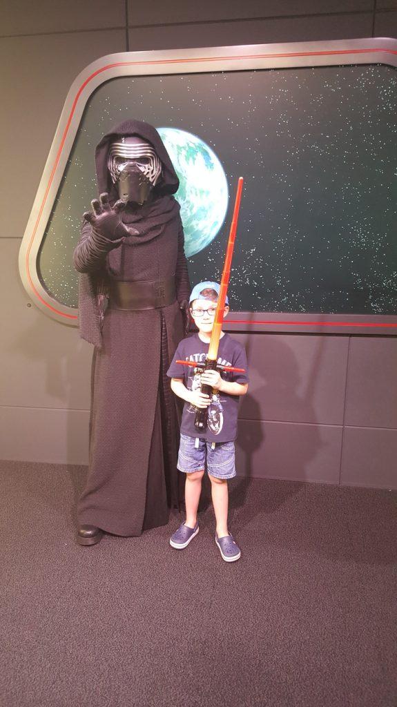 Meeting Kylo Ren at Disney