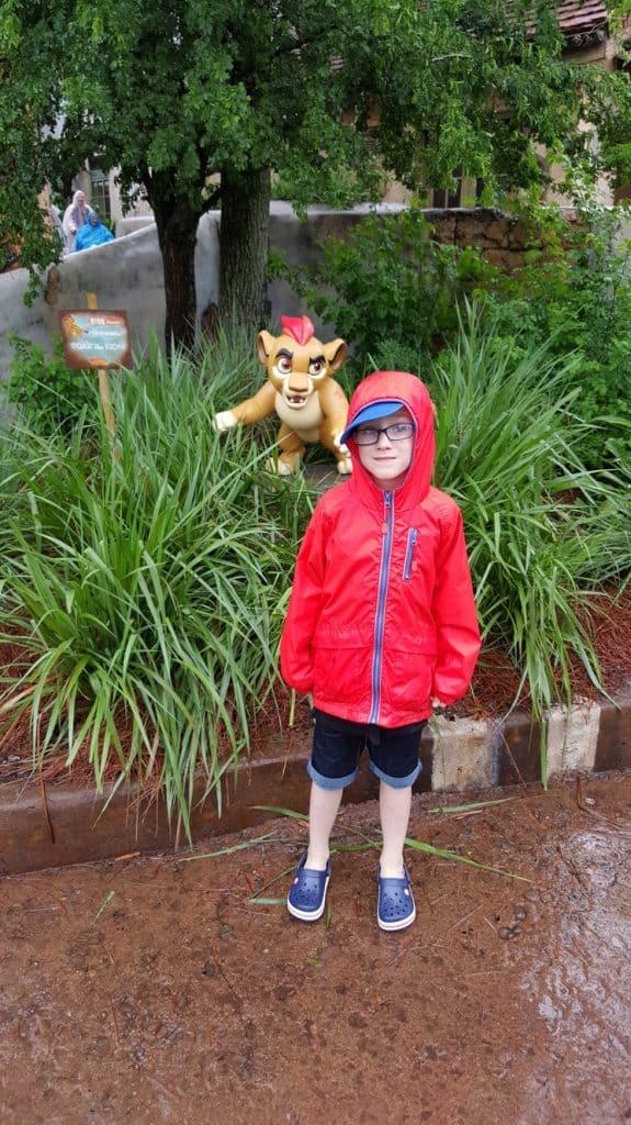 Raining at the Animal Kingdom Florida