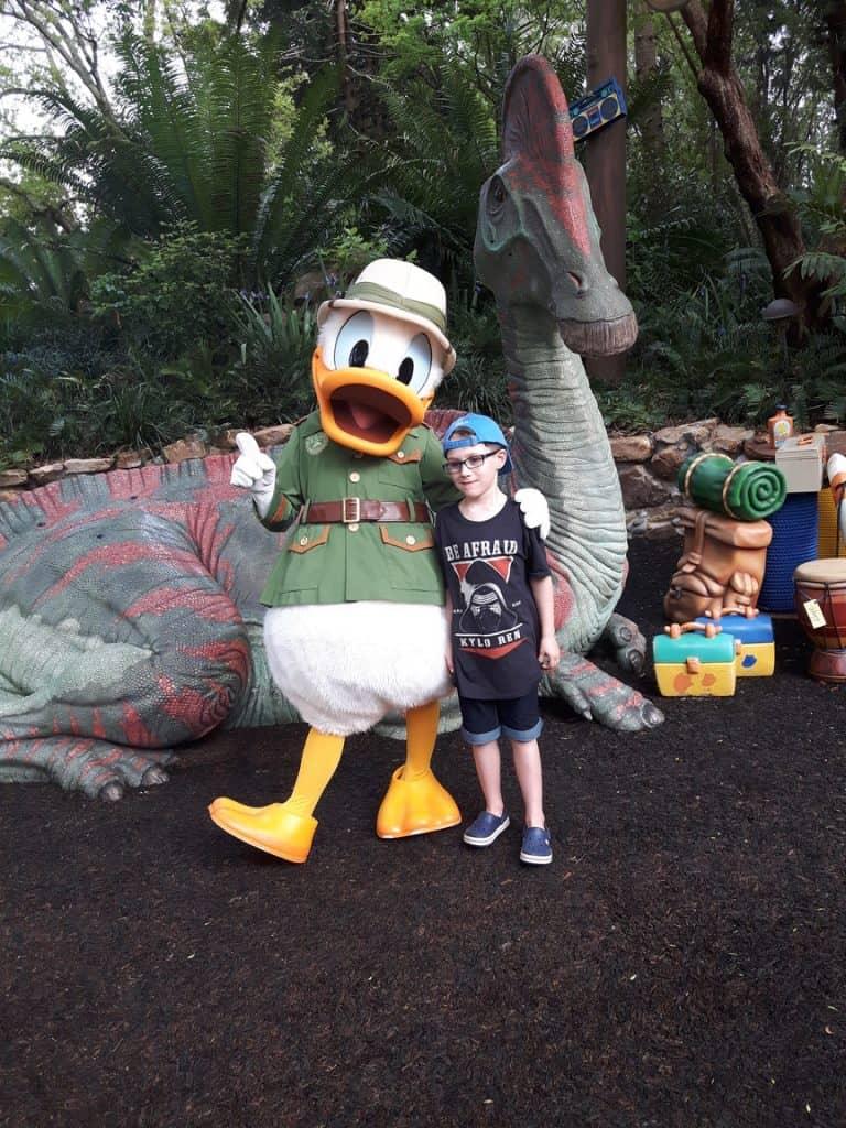 Meeting Donald Duck at Disney World Florida