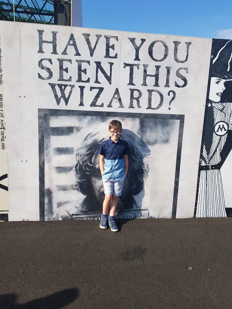 Have you seen this wizard? Outside of Harry Potter Studios London