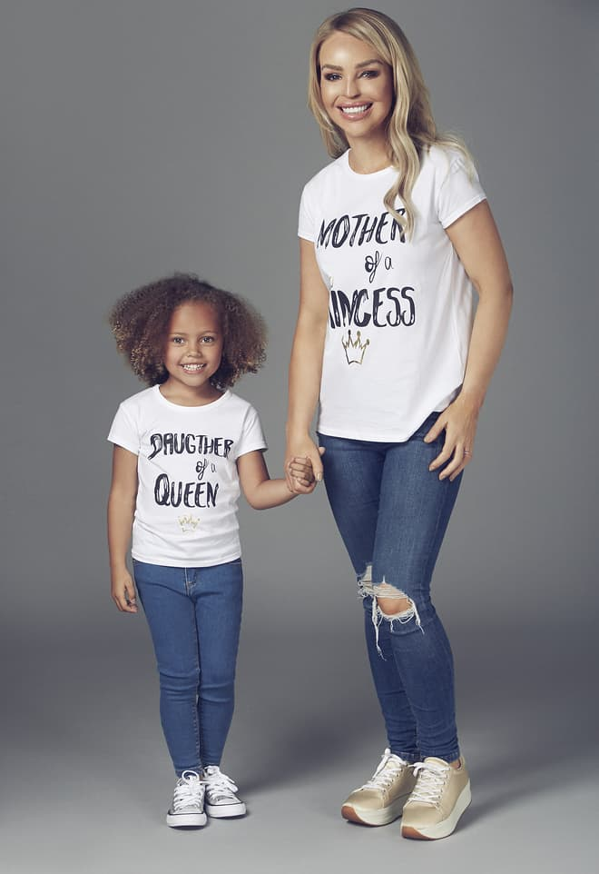Katie Piper Matching Mother and Daughter Matching Outfits