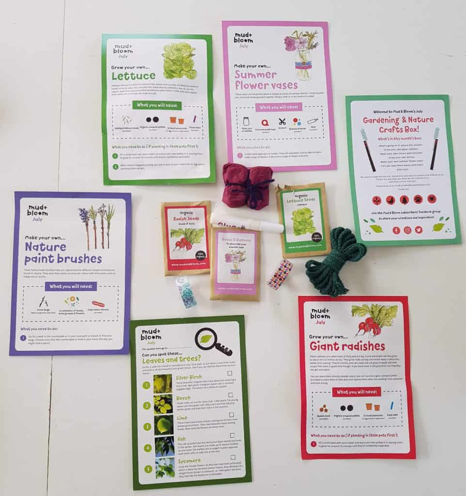 Mud and Bloom Kids Gardening Subscription Box
