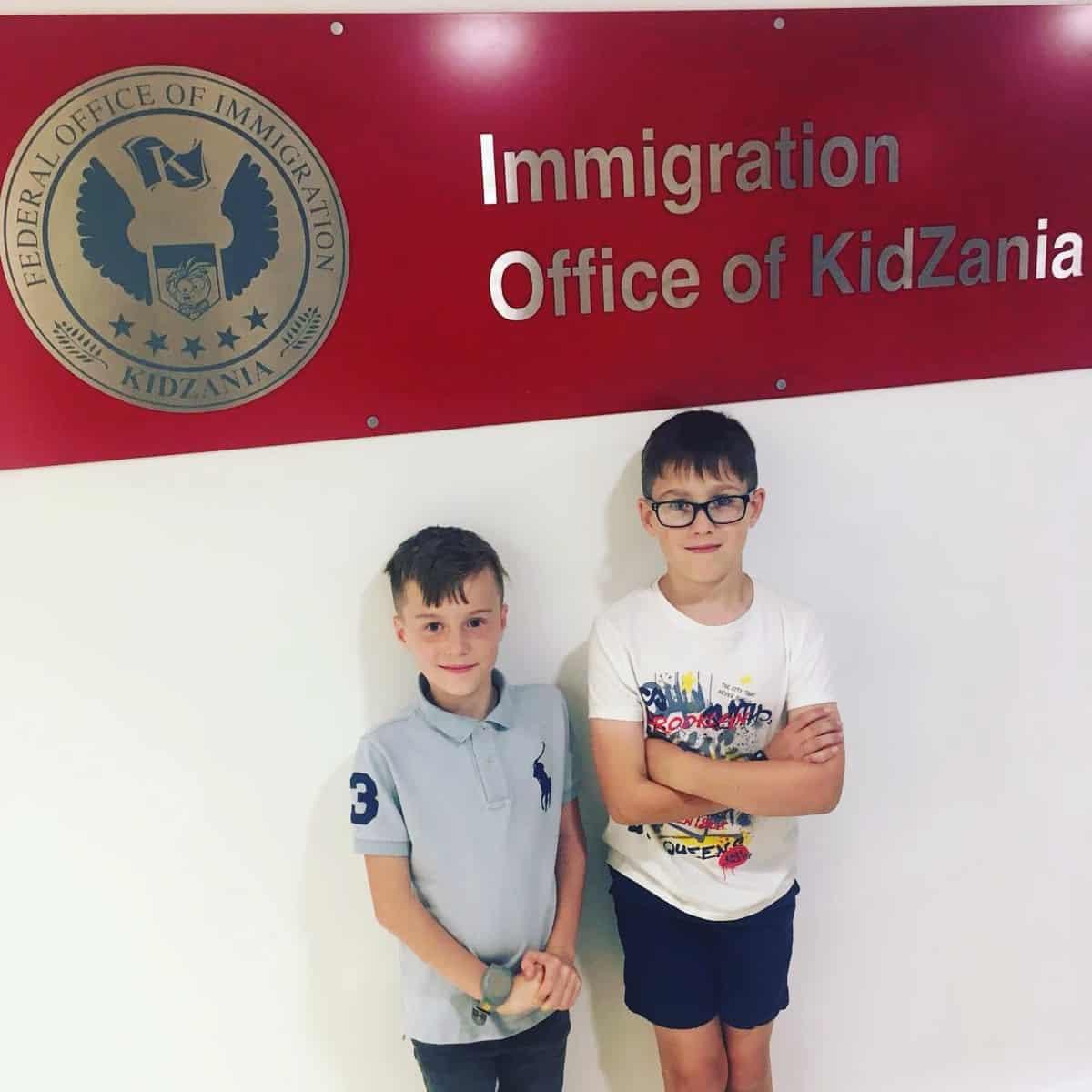 Kidzania London Immigration Office