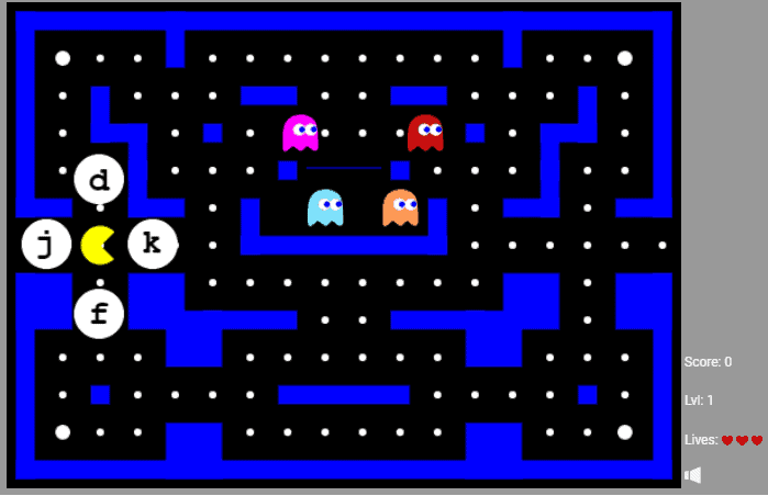 Pacman typing games