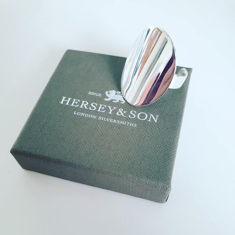 Hersey & Sons Chunky Silver Ring Packaging #silverring